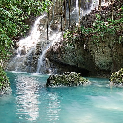 jamaica jungle Tropical waterfall - 6260413440
