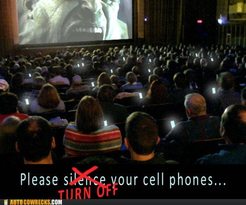 hulk,movie theaters,The Avengers,theater etiquette,turn off your cell phones