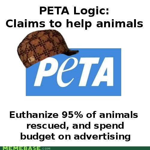 animals,logic,peta,rescued,Scumbag Steve