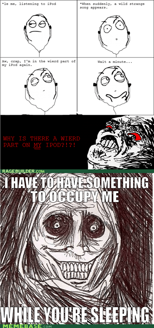 ipod Music never alone Rage Comics raisin rage shadowlurker - 6260485376