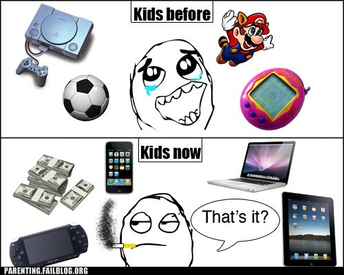 electronics,kids these days,mario,now and then