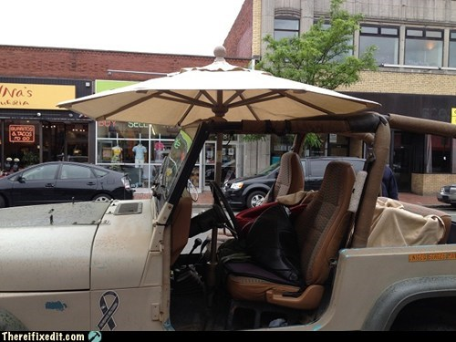 4x4,car,jeep,patio,truck,umbrella