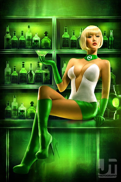 comics cosplay DC Green lantern - 6260654080