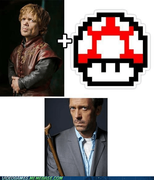 Game of Thrones,house,little person,mario,shroom