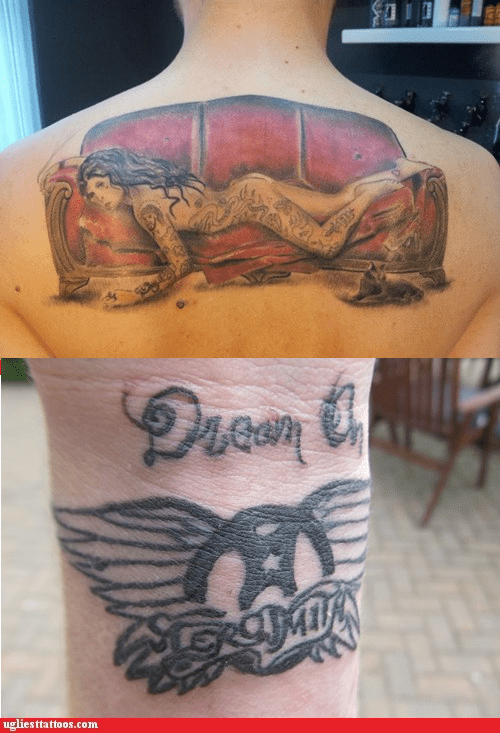 Aerosmith cat couch steven tyler tattoos with tattoos