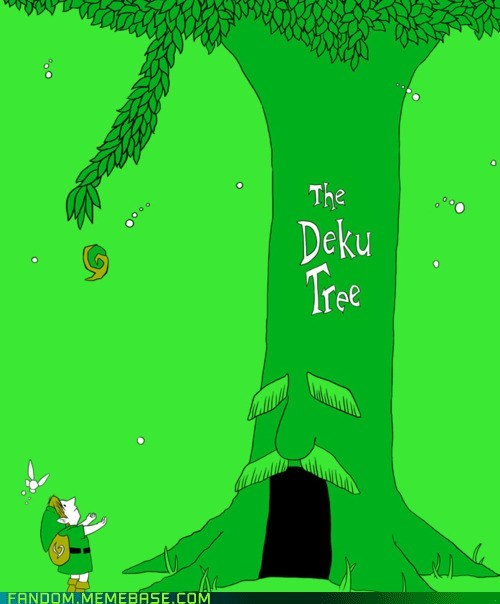 crossover Fan Art giving tree great deku tree legend of zelda video games - 6261078528