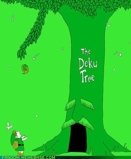 crossover Fan Art giving tree great deku tree legend of zelda video games - 6261078528
