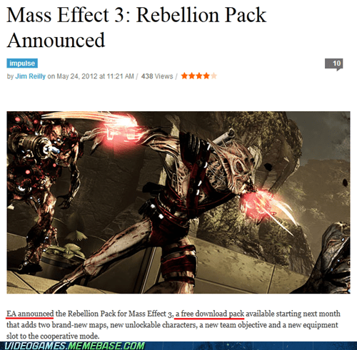 BioWare EA free mass effect 3 Multiplayer news rebellion pack - 6261180928