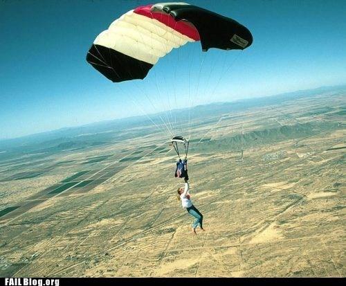 falling,parachute,sky
