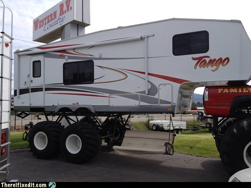big tires big wheel g rated monster truck rv there I fixed it tires truck