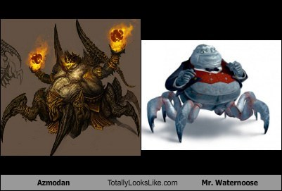 azmodan totally looks like mr waternoose totally looks like