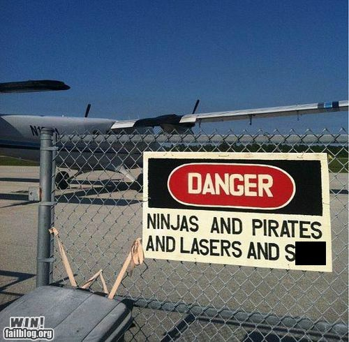 danger ninja pirates sign warning - 6261918720