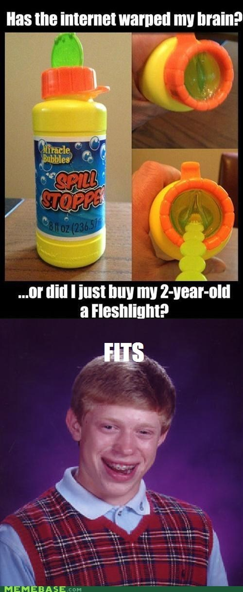 bad luck brian,bubbles,fits,Memes