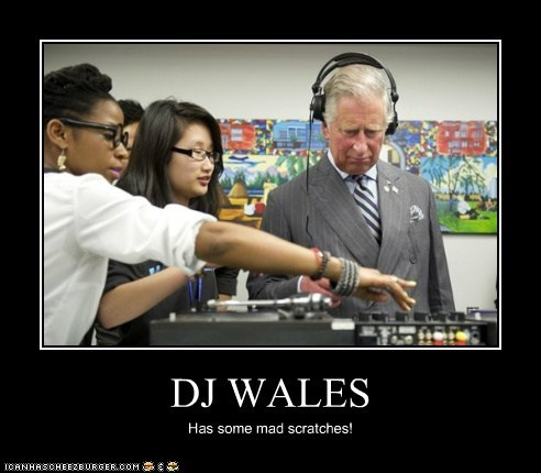 DJ WALES Has some mad scratches!
