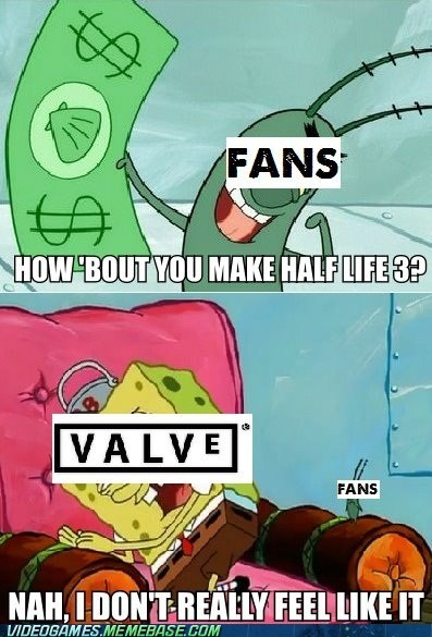 fans,half life,SpongeBob SquarePants,the feels,valve