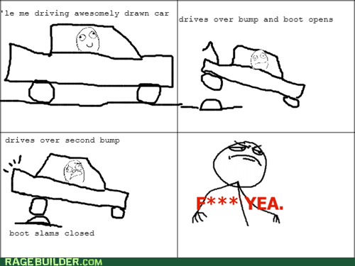 car f yeah Rage Comics trunk