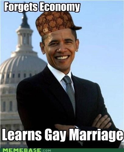 gay marriage obama politics potus scumbag hat