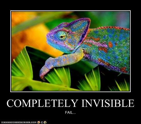 COMPLETELY INVISIBLE FAIL...