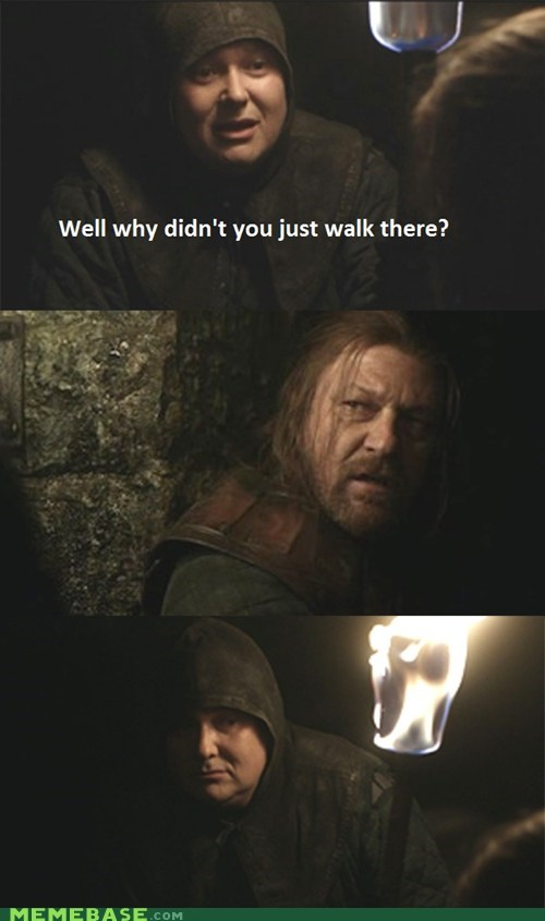 Game of Thrones mordor ned stark one does not simply walk TV