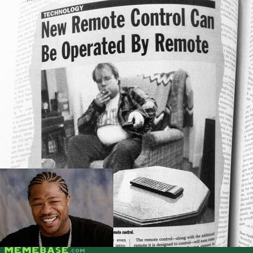 double remote,remote,TV,yo dawg