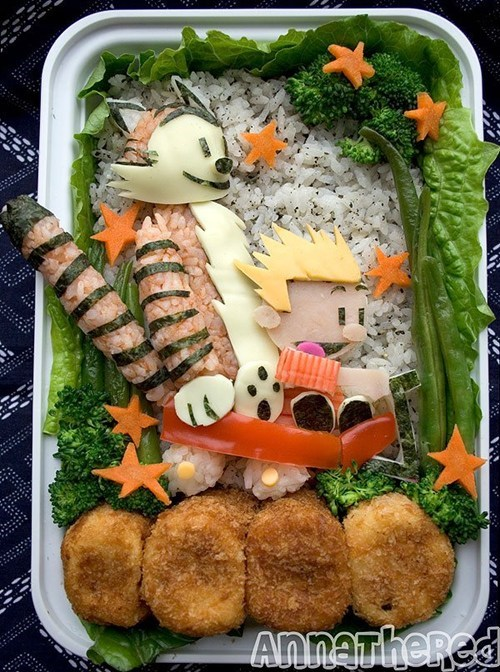 bento calvin and hobbes Fan Art food - 6263779584