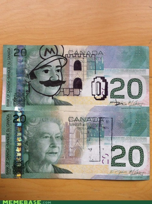 Canada IRL itsa me mario money - 6263784448