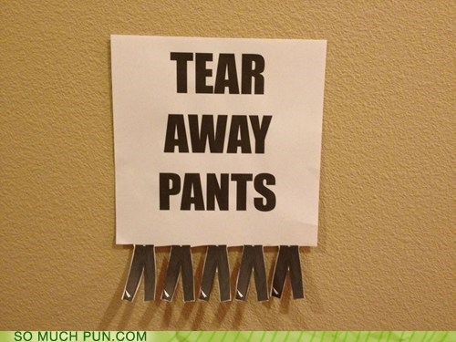away double meaning literalism style tear tear-away pants - 6264084480