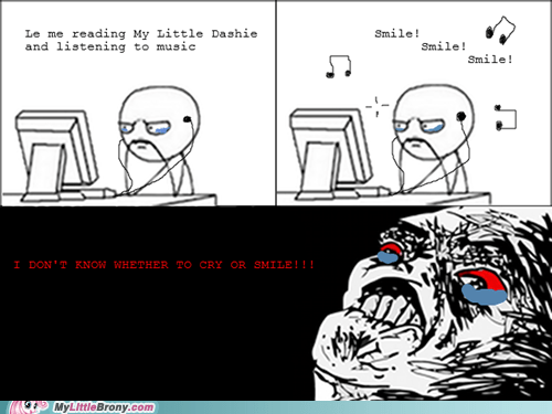 crying fanfic my little dashie Rage Comics smile - 6264090624