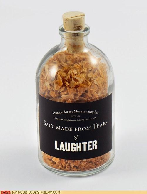 fake laughter salt seasoning tears