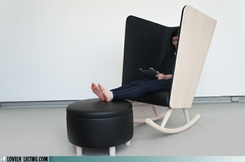 alone blinders chair private rocking chair - 6264167168