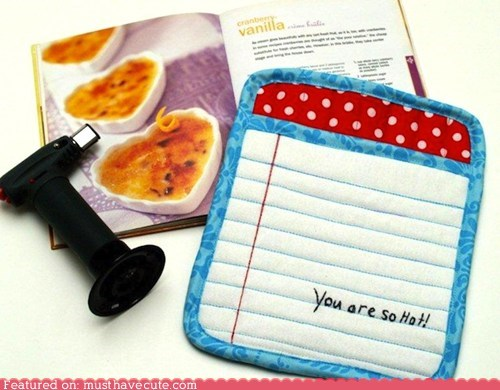 DIY hot pads love note notepad pattern sewing - 6264183808