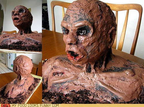 best of the week,cake,chocolate,horrifying,omg,scary,wtf,zombie