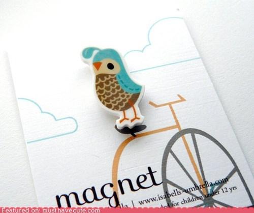 bird fridge magnet quail - 6264187392