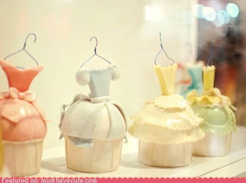cupcakes,dresses,epicute,fondant,hanger
