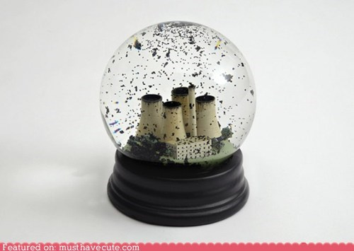black coal power plant snow globe - 6264206592