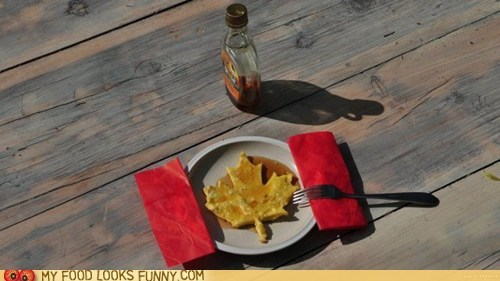 breakfast canadian flag maple leaf maple syrup pancake