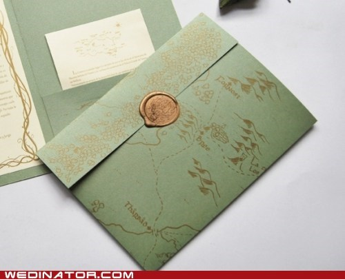 funny wedding photos invitations invites Lord of the Rings tolkien - 6264252416