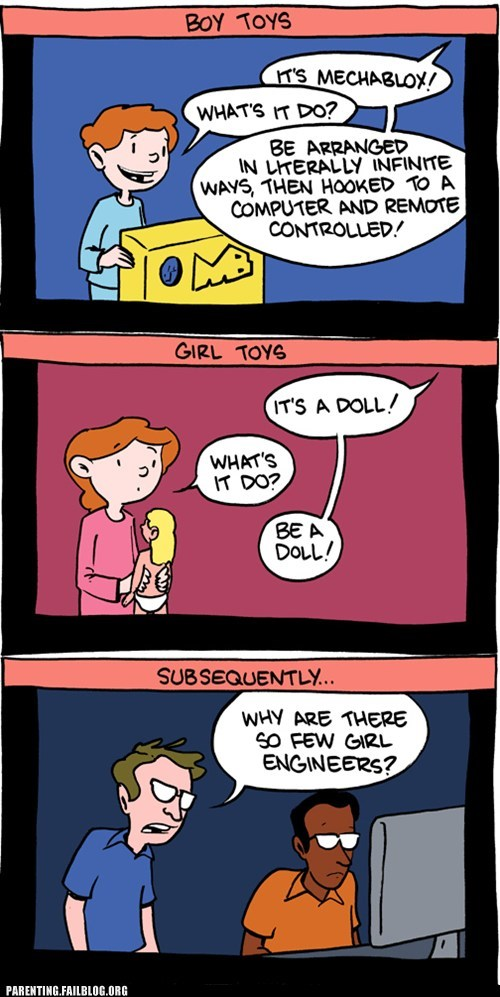 boys vs girls,dolls,engineers,legos,toys