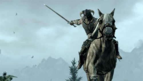 horses mounted combat patch Skyrim video games - 6264337664