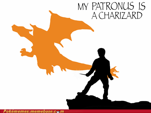 best of week charizard crossover Harry Potter patronus Pokémemes - 6264399616