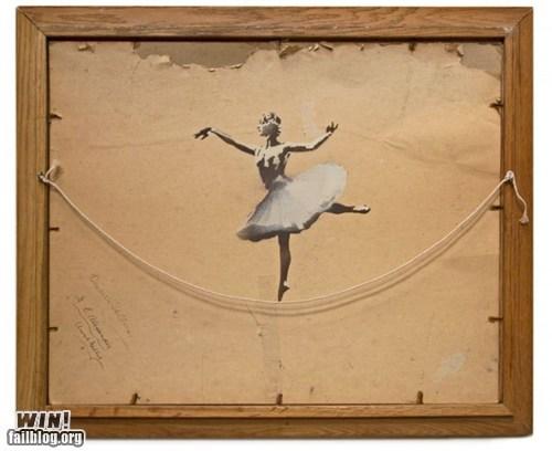ballerina,banksy,clever,hacked irl,Street Art