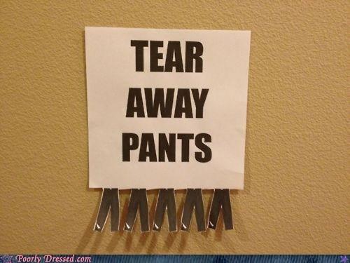 free stuff pants tear-away pants