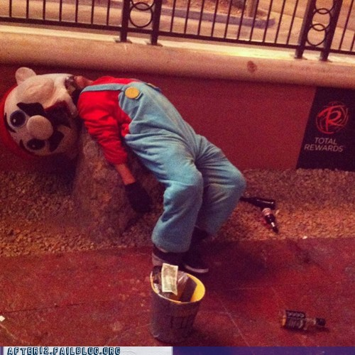 blackout drunk luigi mario passed out super mario wasted - 6264517120