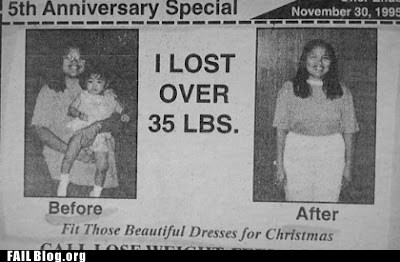 baby,before and afetr,newspaper,weight loss