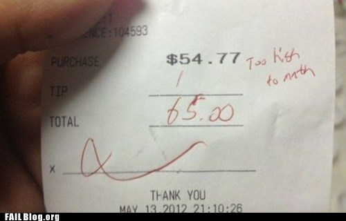 Tipping FAIL