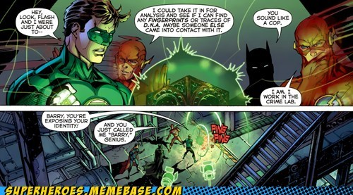 flash Green lantern secret identity Straight off the Straight off the Page
