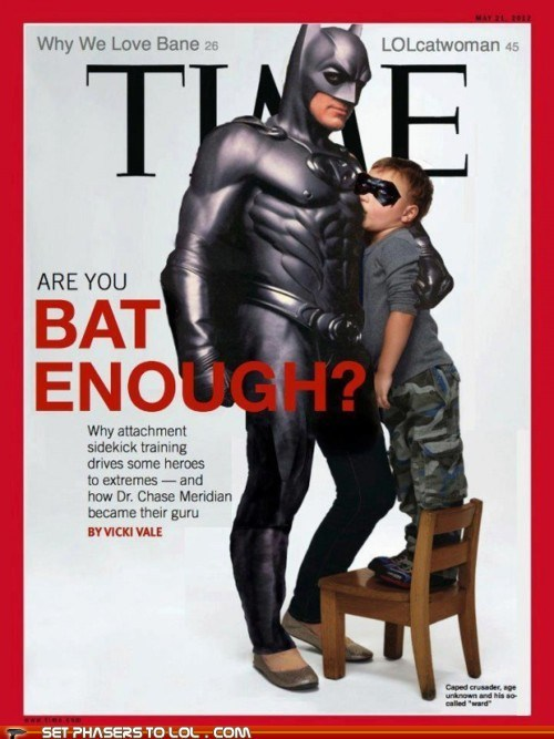 bat batman Batman and Robin costume creepy disturbing george clooney nipples nursing time magazine - 6264632576