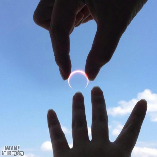 clever eclipse perspective photography ring