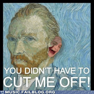 art ear gotye somebody that i used to k Van Gogh Vincent van Gogh - 6264671488