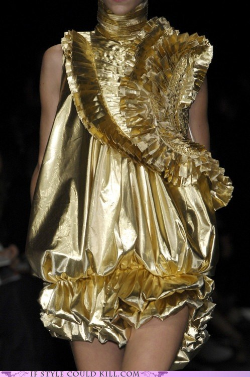 cool accessories givenchy gold runway - 6264674816